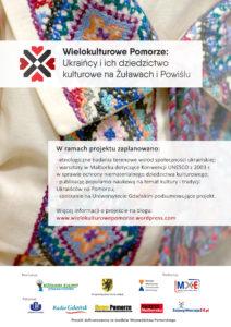 Plakat_Projekt Ukraińcy_Stowarzyszenie Kochamy Żuławy